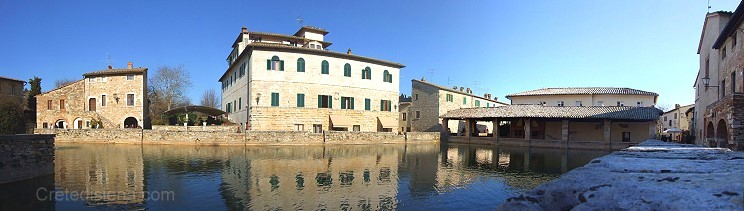 Bagno Vignoni Pienza Borghi Medioevali Toscana Italia Agriturismo Hotel