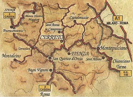 Agriturismo il cerreto agriturismo toscana agriturismo - Bagno vignoni mappa ...